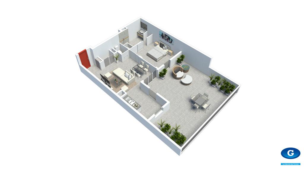 6 Appartements neufs de type T2 - Gondeau - Saint Joseph